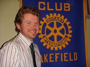 Terry Holmgren Member of Wakefield Rotary Club