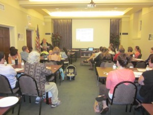 28 local families and educators attended the free training in June, 2013.