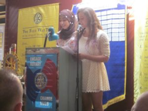 Israeli teens from Friends Forever spoke at a joint meeting earlier this season.