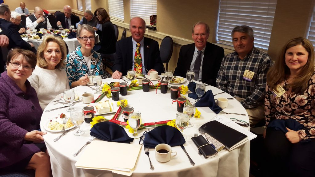 Wakefield Rotarians enjoying lunch at Lynnfield Rotary.