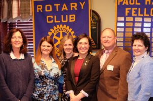(left to right) Barbara Worley, Amy Luckiewicz, Kathy Boyle, Alicia Reddin, Bob Kimball, and Suzanne Bowering