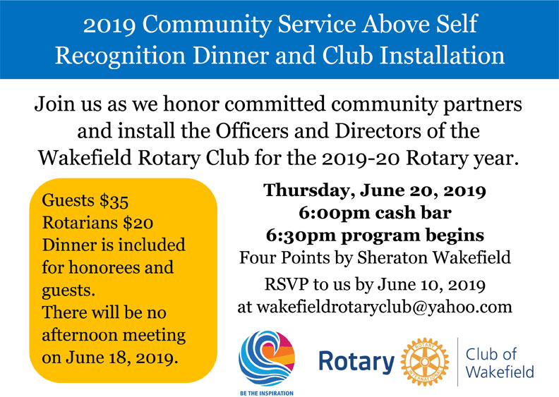 Wakefield Rotary Club Installation Dinner