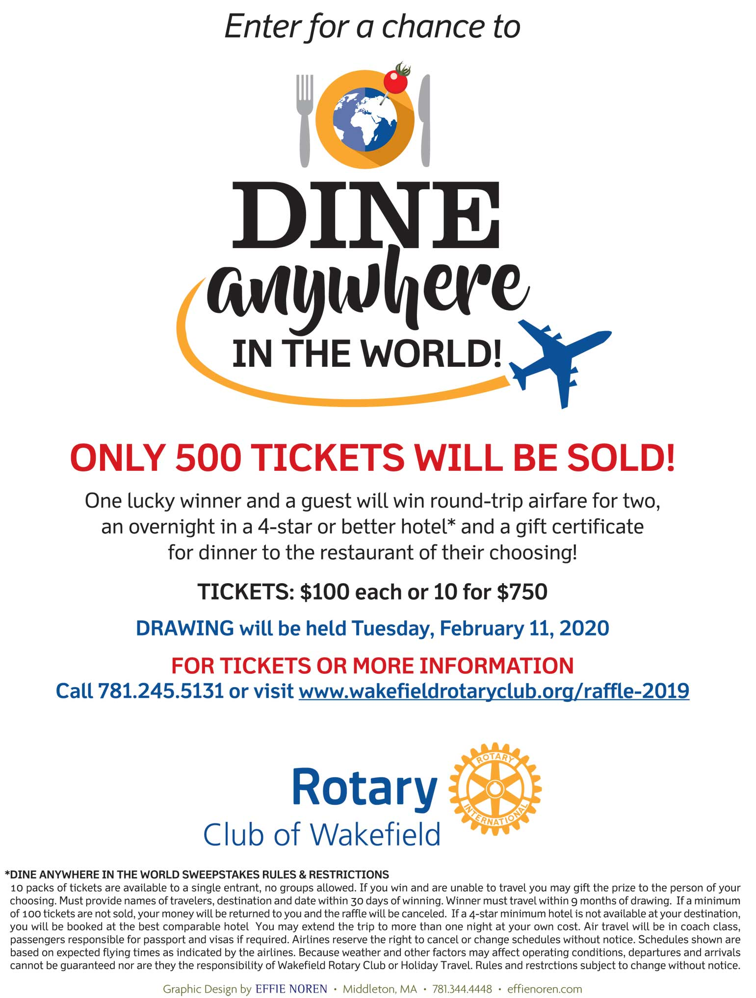 DINE ANYWHERE IN THE WORLD SWEEPSTAKES
